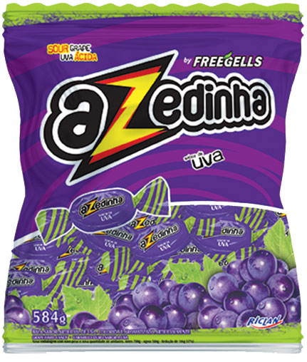 Freegells Candy Azedinha Grape