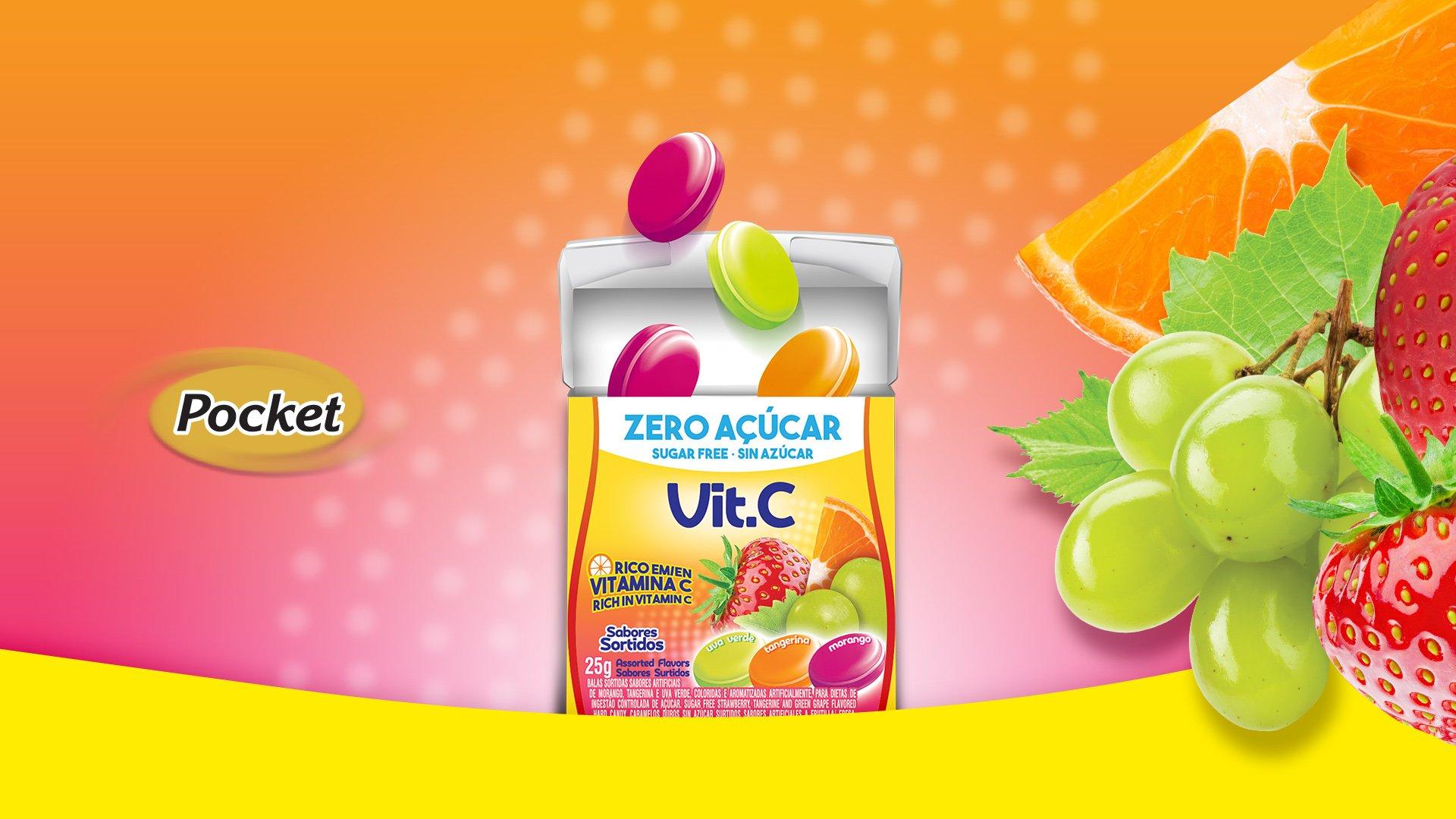 Pocket Vit C zero açúcar