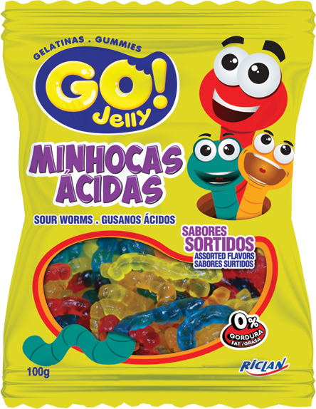 Go Jelly Formats Sour worms