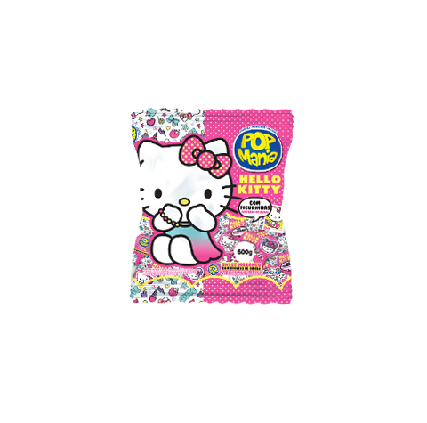 Pop Mania Hello Kitty Sweet Morango com recheio de chicle