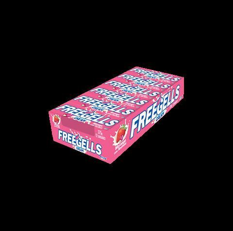 Freegells Cream Morango com recheio cremoso