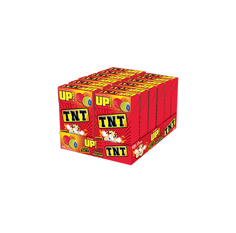 UP TNT Strawberry, orange and apple-green