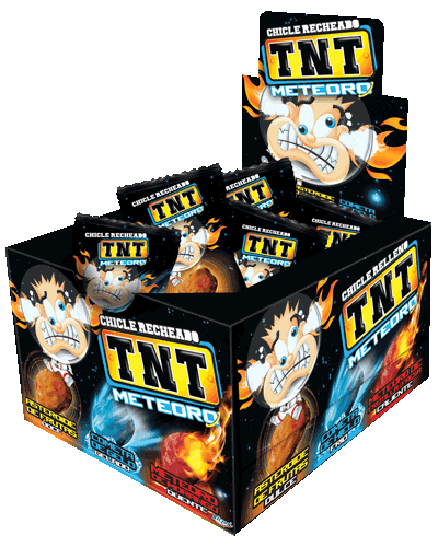 TNT Chewy Gum Meteor Ice Comet, fruit asteroid and Strawberry Meteor