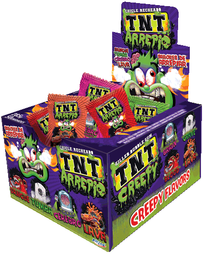 TNT Chewy Gum Creepy Brains, lava, tomb and blood