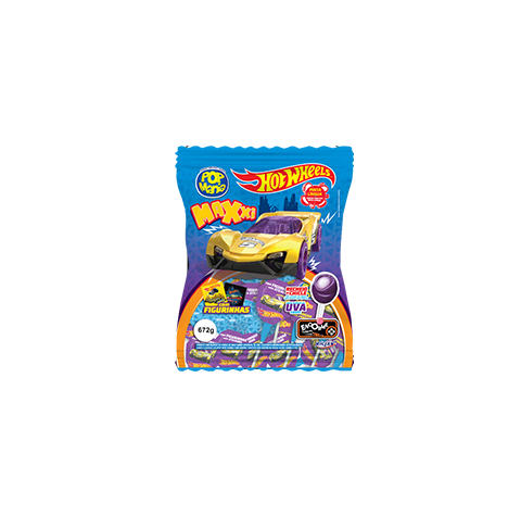 Pirulito Maxxi Hot Wheels Uva
