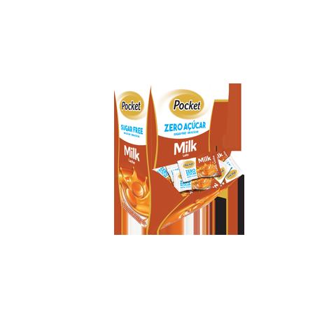 Bala Pocket Zero Açúcar Basculante Leite