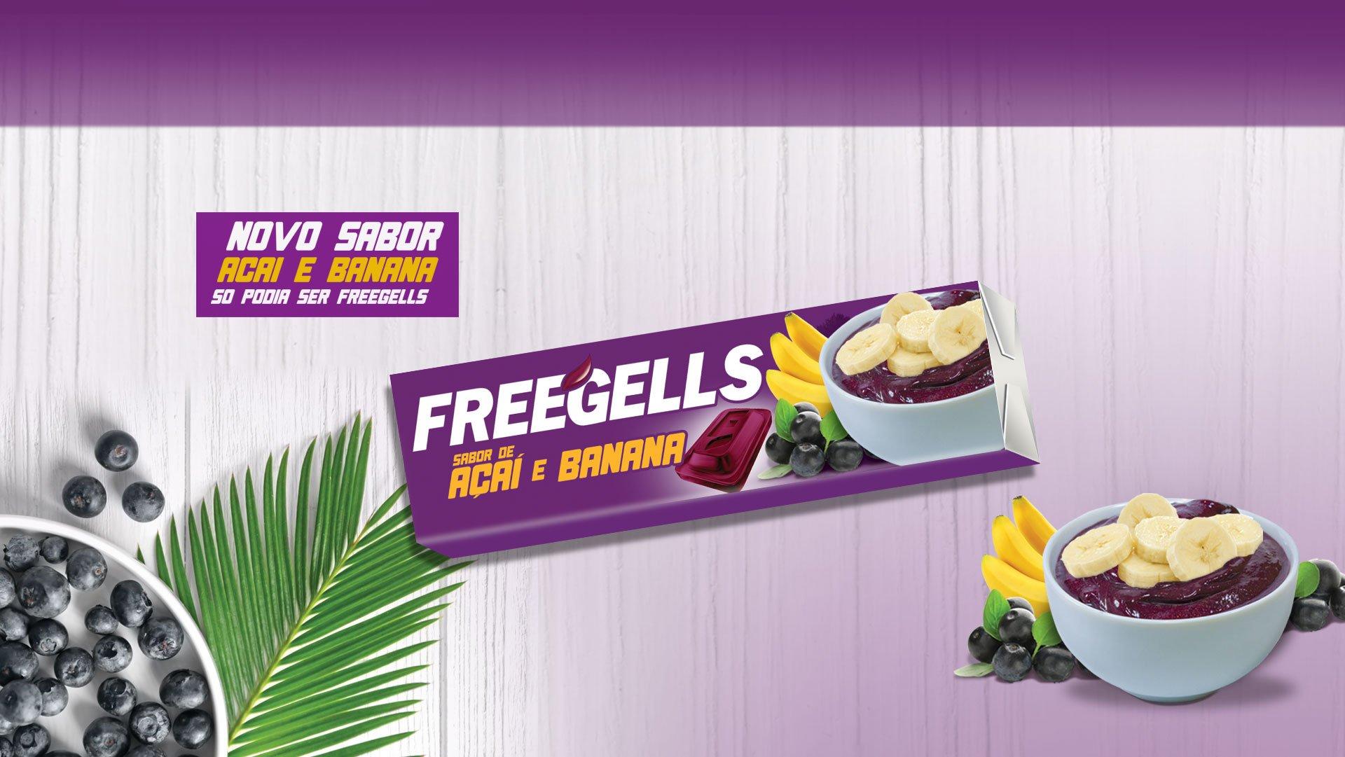 Freegells Açai e Banana