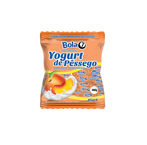 Balas Mastigáveis Bola 7 Yogurt de Pêssego