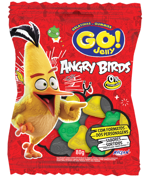 GoJelly Angry Birds (Português do Brasil) Sortido