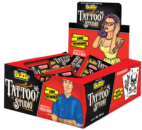 Chicle Buzzy Tattoo Studio Morango