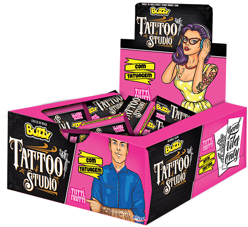 Chicle Buzzy Tattoo Studio Tutti Frutti
