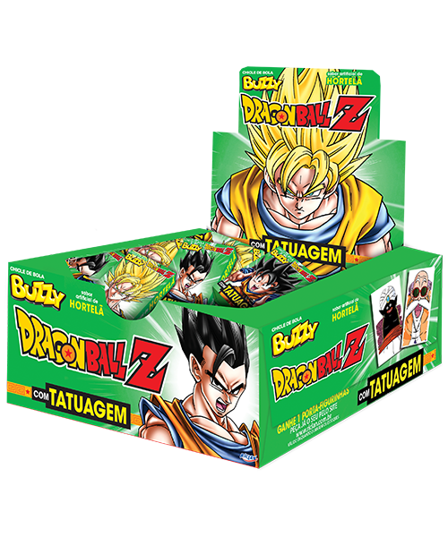 Chicle Buzzy Dragon Ball Z (Português do Brasil) Hortelã