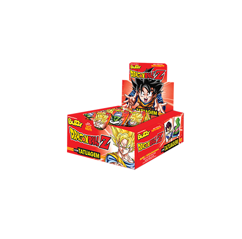 Chicle Buzzy Dragon Ball Z (Português do Brasil) Tutti-frutti