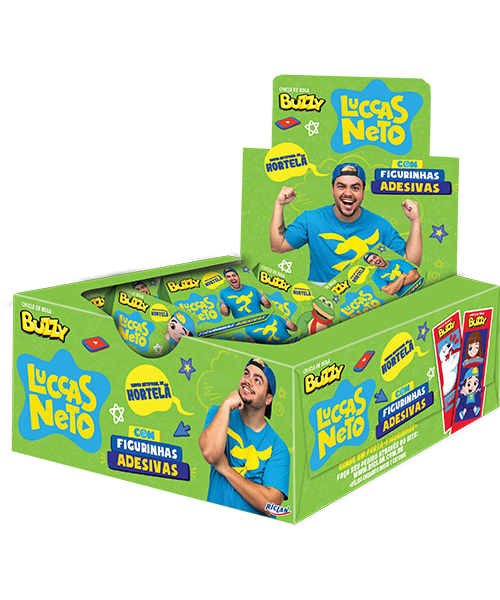Chicle Buzzy Luccas Neto Hortelã
