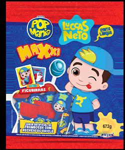 Pirulito Pop Mania Maxxi Luccas Neto Framboesa